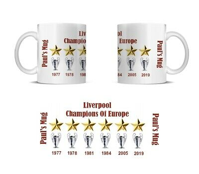 Personalised LIVERPOOL Champions League 2019 Commemorative Mug Fathers Day Gift
