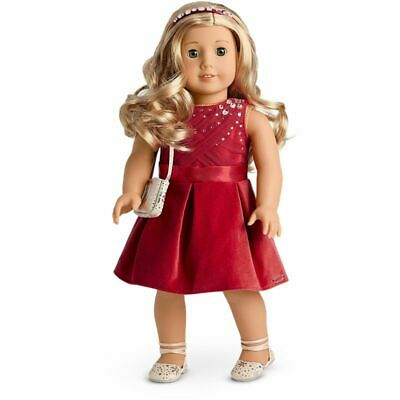 American Girl Tis The Season Party Dress Outfit Brand New In Truly Me Box
