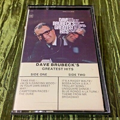 Dave Brubeck ‎– Dave Brubeck's Greatest Hits K7 Cassette Canada Cool Jazz Bop