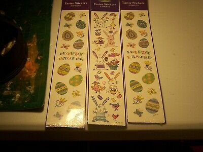 Lot of 6 sheets-american greeting Easter stickers