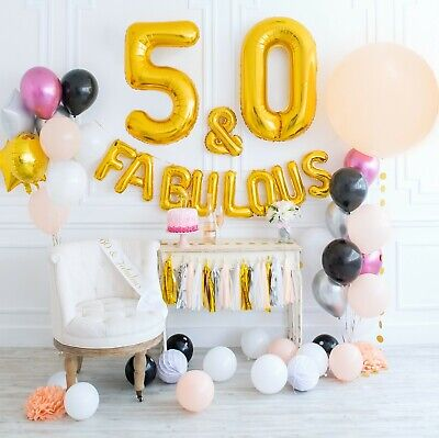 FABULOUS 50th Birthday Decorations Party Supplies SASH 71 Items