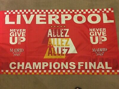 liverpool fc flag Champions League Final 2019 Madrid YNWA Never Give Up