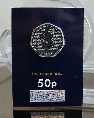 NEW 2019 Sherlock Holmes Fifty Pence Coin 50p BU BUnc Brilliant Uncirculated