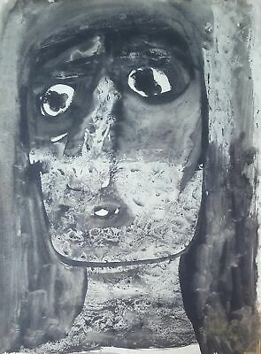 Cuban Art. Painting by Fernando Luis.Untitled, 1970. Watercolor on paper. Signed