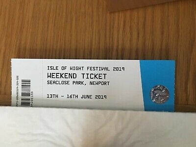 Isle Of White Festival Ticket 2019