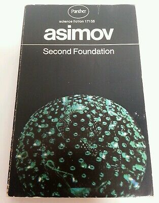 BOOK - Vintage Panther Science Fiction Isaac Asimov Second Foundation 1972
