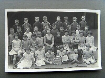 Westwood County Mixed School County 1933 Durham Vintage Real Photo Postcard Rare