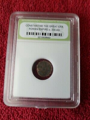 "1700 YEARS OLD COIN  ""Constantine The Great Era Roman Empire 330AD - Sealed Case"
