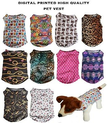 Digital Print Sleeveless Shirt Pet Puppy Pup Clothes Costume Vest Dog Dress
