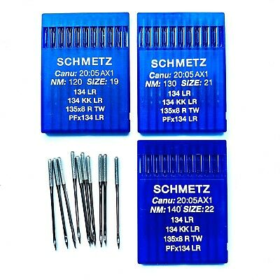 Schmetz Industrial Sewing Machine Needles for Leather 134LR PFX134LR 120 130 140