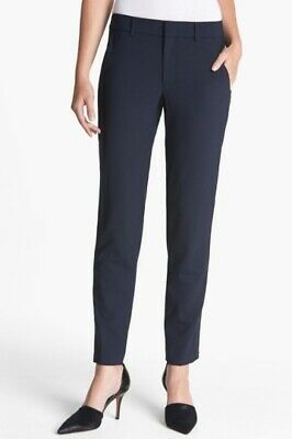 4756b90654be7d Vince Pants 8 Navy Blue Strapping Stretch Wool Trousers Work Office Dressy  Ankle