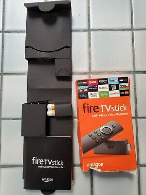 Amazon Fire TV Stick with Alexa Voice Remote Streaming 2nd Gen new open box