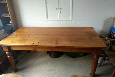 Victorian Style Pine Dining Table and chairs