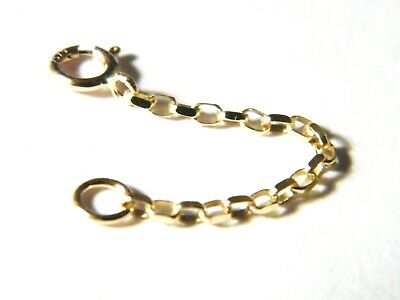 9ct Yellow Gold Beautiful Diamond Cut Belcher Safety Chain Extender 1.5 Inches