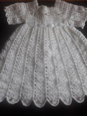 baby girl crochet party dress, christenining