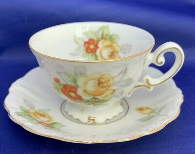 Vintage Ohata China Demitasse Tea Cup, Made In Occupied Japan, With Gold Trim
