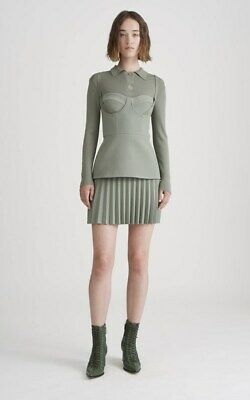 4b3600f947ee Dion Lee 'Bustier Pleated Mini Dress' In Khaki :) Perfect Condition