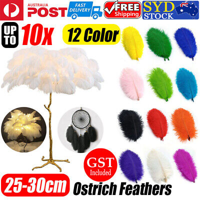 5/10X Ostrich Feather 25-30cm DIY Crafts Event Feathers Wedding Party Decoration