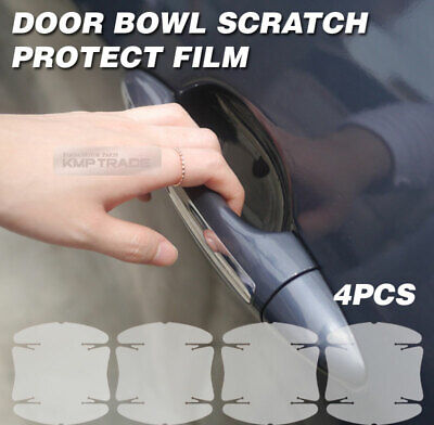 Door Handle Cup Anti Scratch Clear Paint Protector Film For Ram / Renault Car
