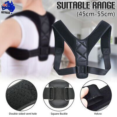 BodyWellness Posture Corrector Adjustable Shoulder Back Support Brace Strap