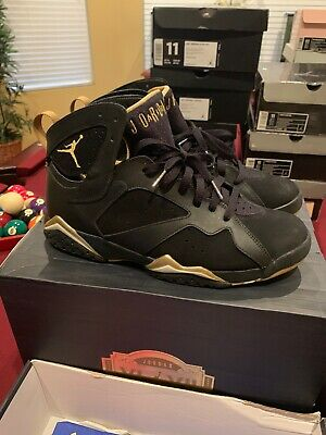 buy popular ff6fa 55cf4 Nike Air Jordan Retro 7 VII Gold Moment Pack Gmp Black White Mint Condition