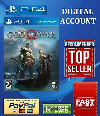 God Of War 4 Ps4 Primary Digital Free Shipping