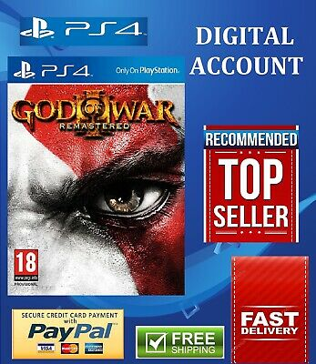 God Of War 3 Remastered Ps4 Primary Digital free shipping