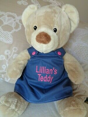 Personalised clothes to fit boys girls Build a bear 30cm pinafore 40cm length