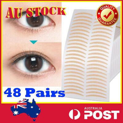 48 Pairs Double Narrow Eyelid Tape Sticker For Large Looking Eye Lid Invisible