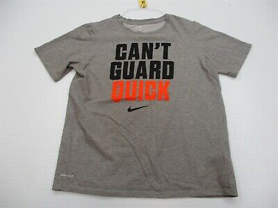 80a8d5a9d NIKE T-Shirt Youth Size XL Athletic Cut CANT GUARD QUICK Basketball Gray  Crew