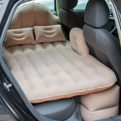 Inflatable Travel Car Mattress Air Bed Back Seat Sleep with Pillow/Pump