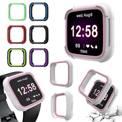 For Fitbit Versa Smart Watch Plating Protector Bumper Silicone TPU Case Cover