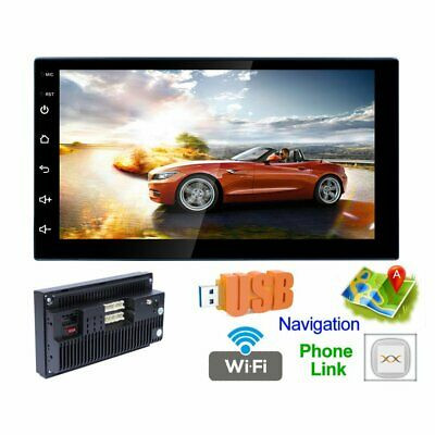 "7""Car Stereo CarPlay Autoradio DVD Player Radio WIFI GPS Touch Screen WF"