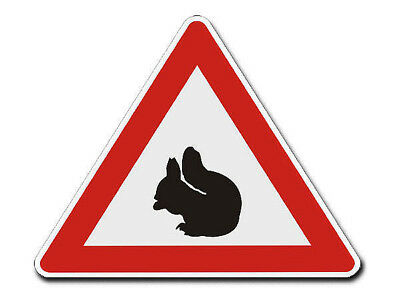 Triangular Traffic Sign with Motif Squirrel S4337