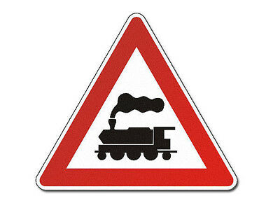 Triangular Traffic Sign with Steam Locomotive S3847