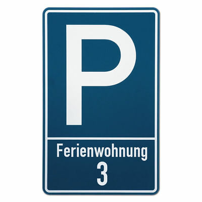 Parking Spot Sign for Apartment or Mietwohnung S3516