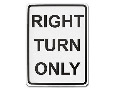 Signalisation USA - Droite Turn Only