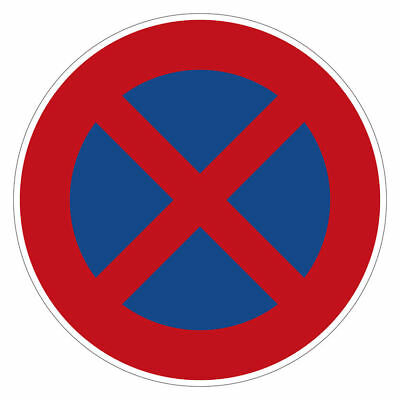 Traffic Sign Absolute Stopping Nach Stvo S3759