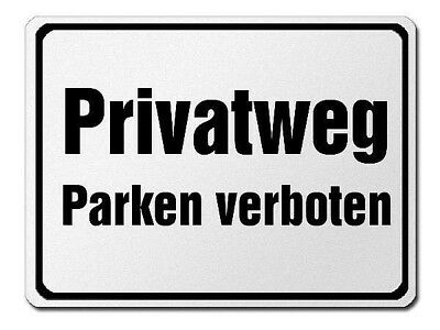 Park Prohibition Sign Made of Aluminium - Private - Parking Prohibited S3743