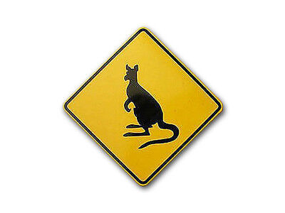 Traffic Sign Kangaroo from Australia S34