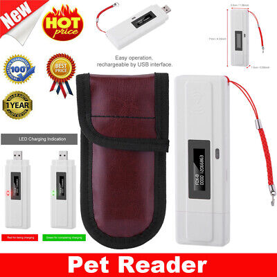 RFID Handheld Reader Animal Chip Reader Pet Microchip Scanner 134.2kHz Universal