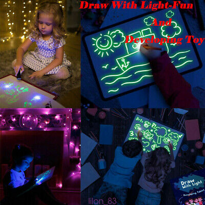 Draw With Light Fun And Developing Toy Drawing Board Magic Educational Painting