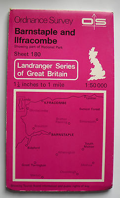 1982 Old OS Ordnance Survey Landranger Map 180 Barnstaple & Ilfracombe Area