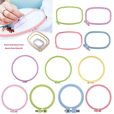 Plastic Frame Hoop Ring Embroidery Cross Stitch Sewing Tool DIY Art Craft Tool