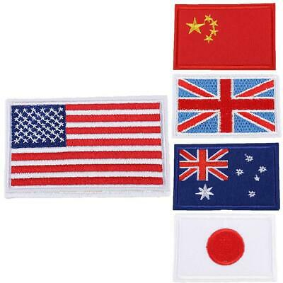 International World Countries Flag Embroidered Iron ON Patch Arm Badge New