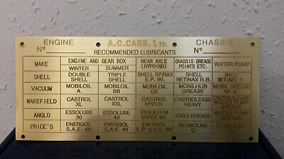 AC Ace Chassis plate