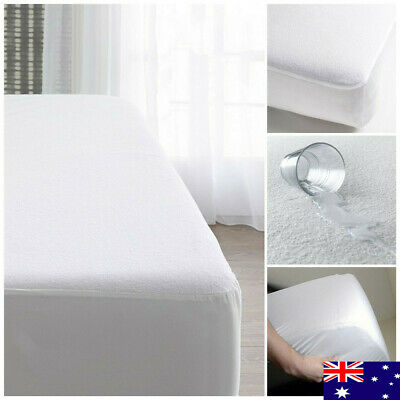 Luxury Brand New Waterproof Terry Toweling Mattress Protector Bed Cover Cb Au