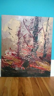 Morris Katz 1984 Original Impressionist Oil painting on board.Signed.Dated20X24