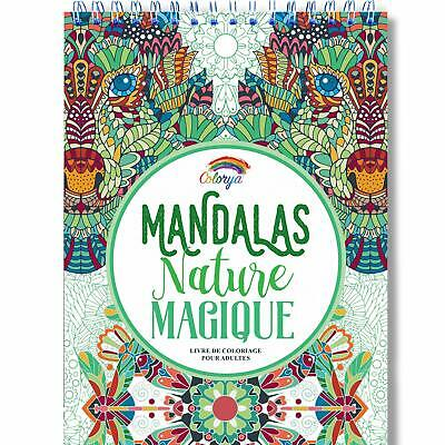 Livre De Coloriage Adultes Mandalas Anti Stress Nature