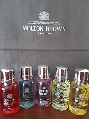 Molton Brown Ladies Body Wash / Shower Gel / Gift Set 5 x 30ml Bottles - NEW